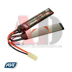 17206 ASG - Batterie LiPo 7,4V 1300Mah 20C
