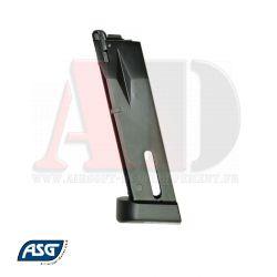 Votre boutique web Airsoft Developpement propose : ASG Chargeur Co2 pour M9 capacité de 25 billes - Réf 16863